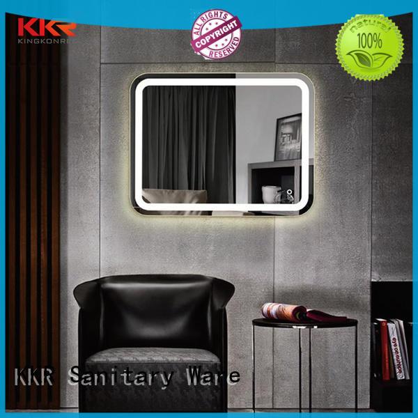 led light bathroom mirrors contemporary sanitary ware for toilet KingKonree
