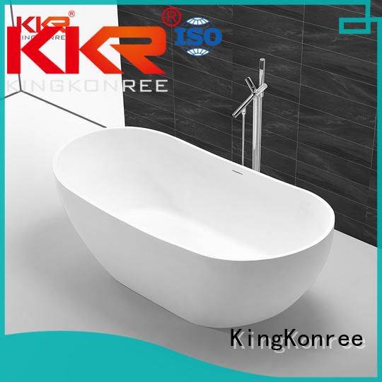 KingKonree finish resin stone bathtub ODM for bathroom