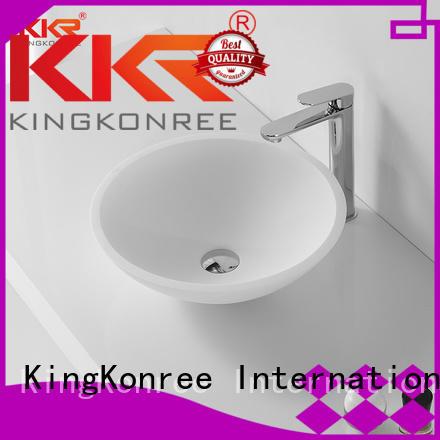 rectangle oval above counter basin above acrylic KingKonree Brand