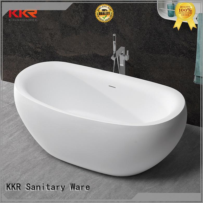 KingKonree matt freestanding soaking bathtub custom for family decoration