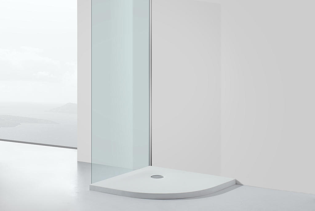 KingKonree pan shape 900 x 800 shower tray for bathroom-1