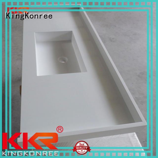 KingKonree white bathroom tops customized for home