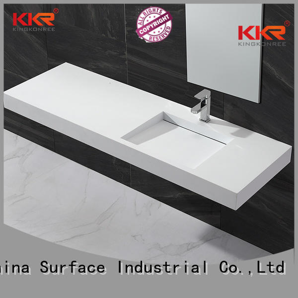 KingKonree Brand rectangle kkr wall mounted wash basins manufacture