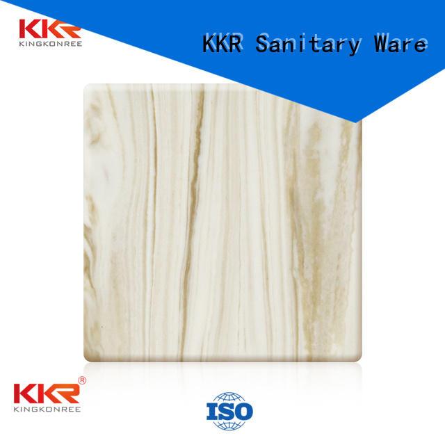 artificial texture sheets solid acrylic sheet KingKonree manufacture