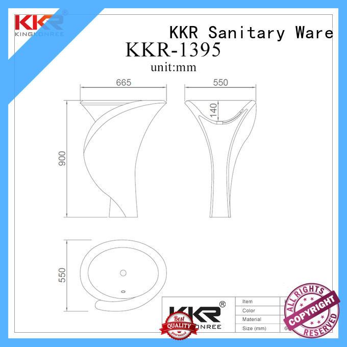 height freestanding bathroom basin resin for bathroom KingKonree