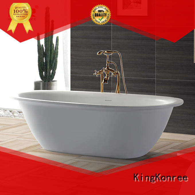 KingKonree high-end bathroom stand alone tub white for hotel
