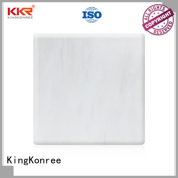 KingKonree modified solid surface sheet slabs black for hotel