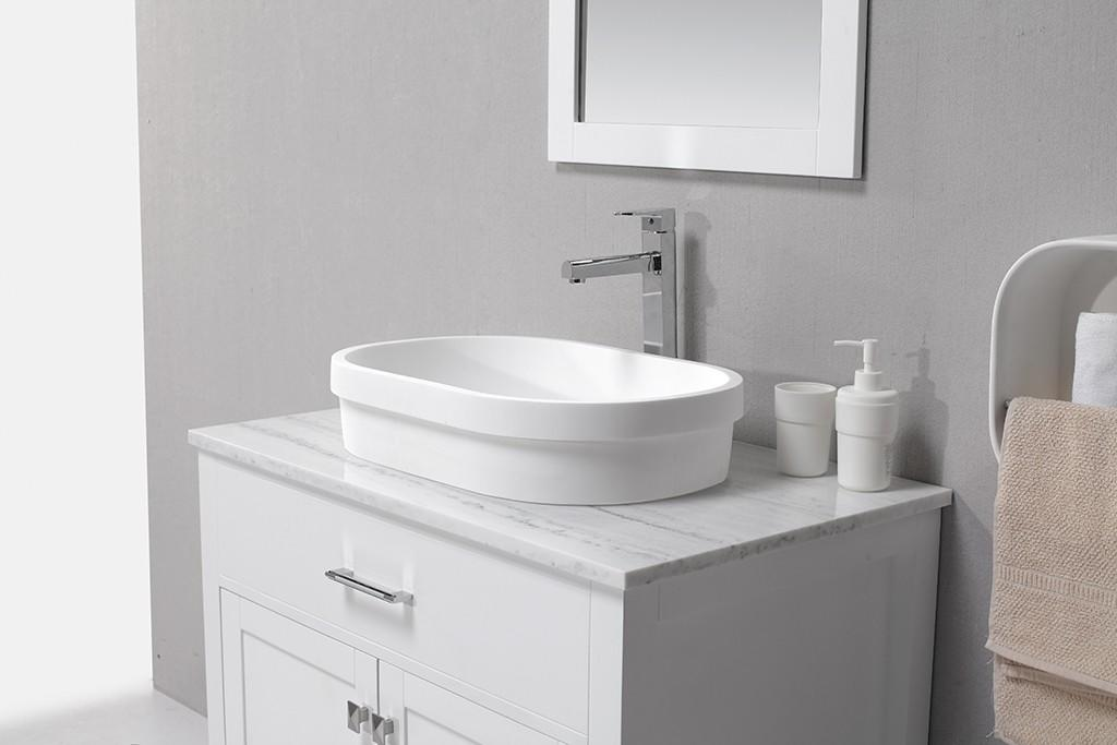KingKonree white above counter sink bowl at discount for home-1