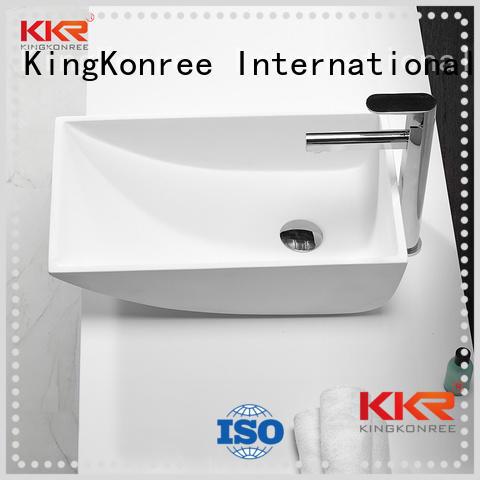 rectangle wash basin above counter basins KingKonree