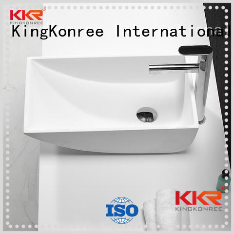 rectangle wash basin above counter basins KingKonree