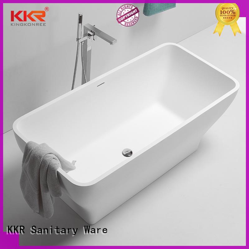 KingKonree marble modern freestanding tub free design for family decoration
