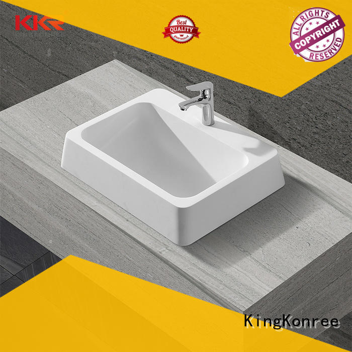 KingKonree sturdy solid surface basin top-brand for bathroom