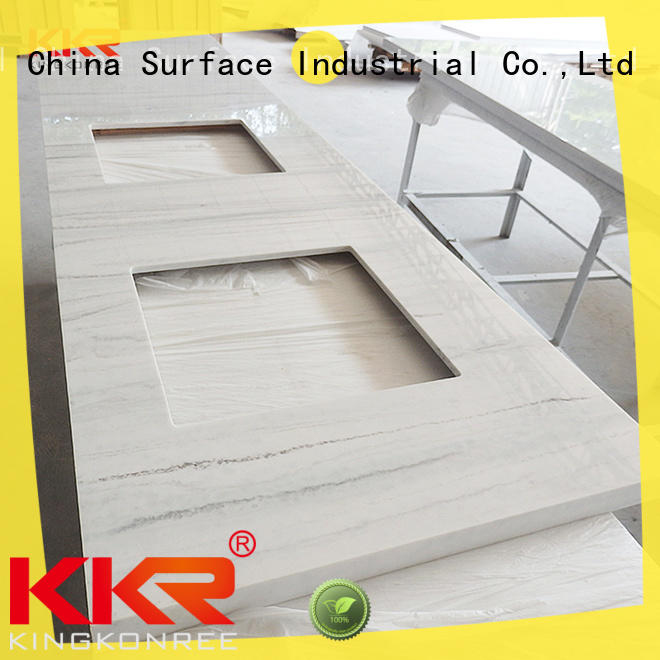 white inexpensive countertops quartz stone for motel KingKonree