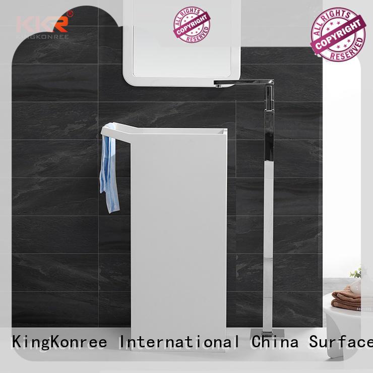 KingKonree solid surface basin for wholesale for hotel