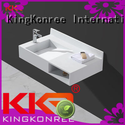 KingKonree wall hung small wall mounted basin white for bathroom