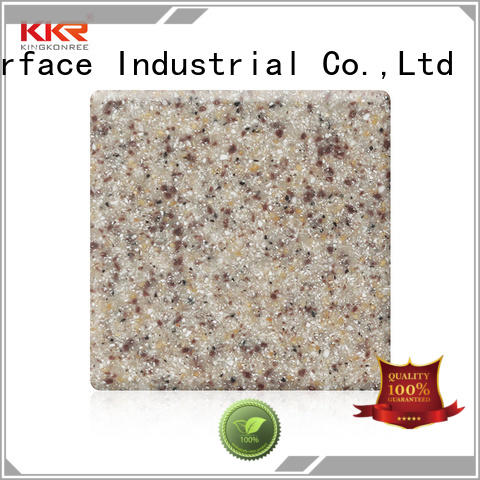 thick solid surface sheet suppliers design for hotel KingKonree