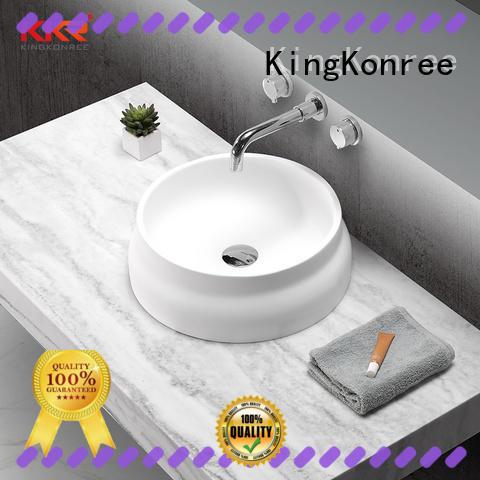 KingKonree durable bathroom countertops and sinks standard for hotel