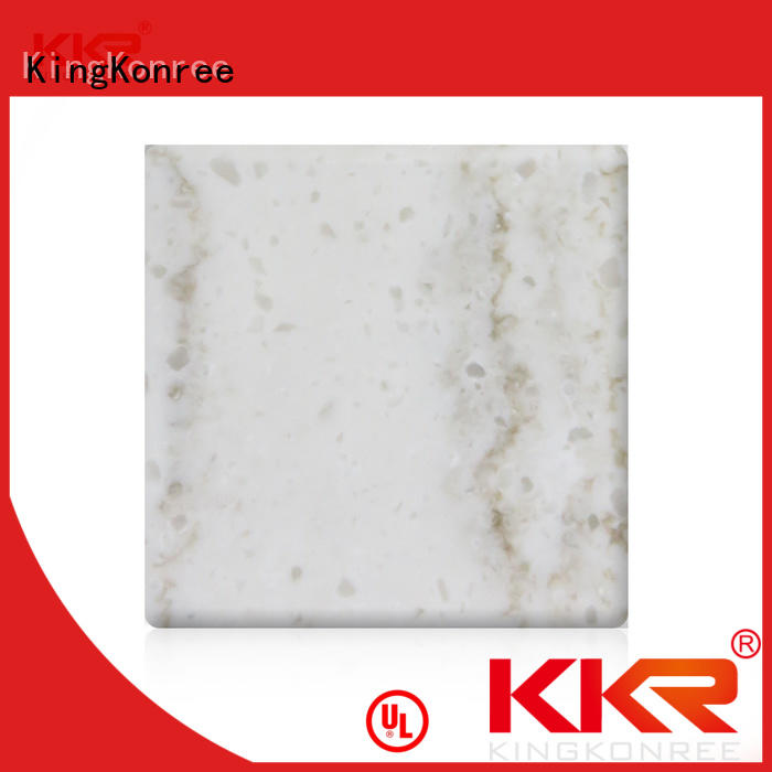 KingKonree white discount solid surface sheets for indoors
