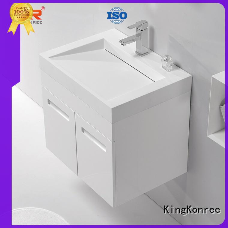 KingKonree small wash basin with cabinet manufacturer for motel