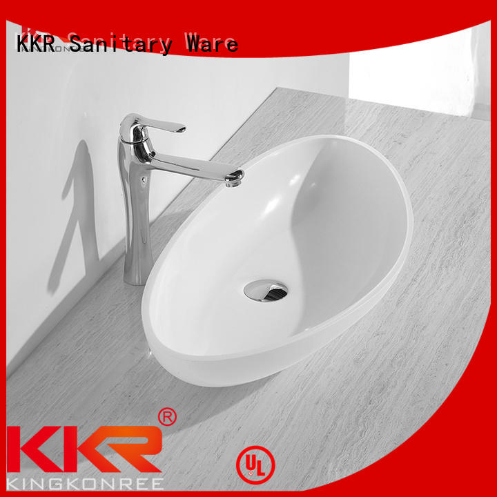 KingKonree Brand basin quality acyrlic oval above counter basin kkr