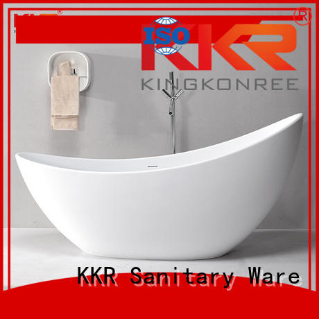 b008 round against Solid Surface Freestanding Bathtub KingKonree manufacture
