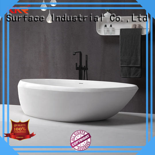 KingKonree marble stone resin bathtub at discount for bathroom