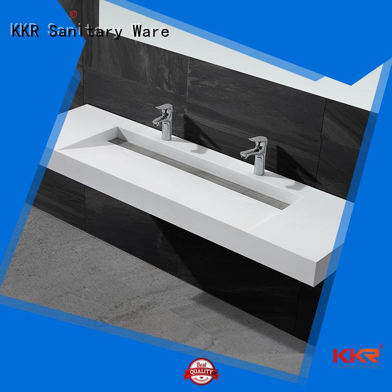 marble acrylic hanger wall mounted bathroom basin KingKonree Brand