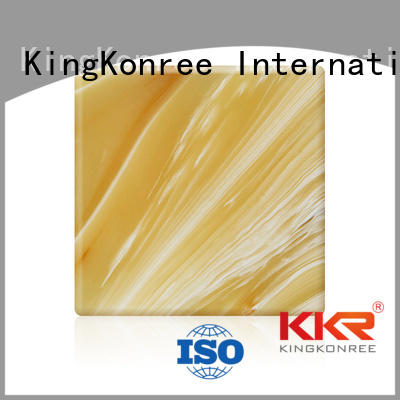 KingKonree Brand solid translucent translucent solid surface stone