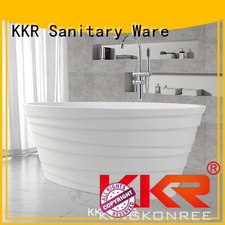 KingKonree Brand afrtificial furniture standing solid surface bathtub