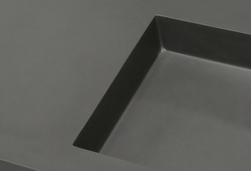 Dark Grey Acrylic Solid Surface Cabinet Basin KKR-1534-3