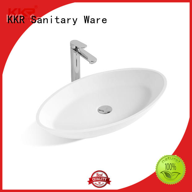 KingKonree sanitary ware top mount bathroom sink supplier for hotel