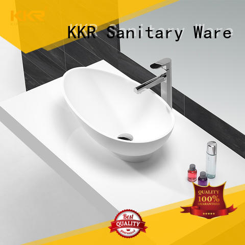 durable top mount bathroom sink customized for hotel
