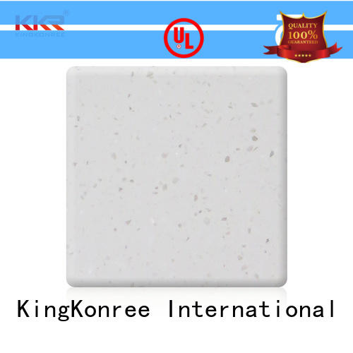black modified acrylic solid surface supplier for restaurant