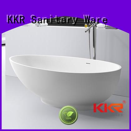 outside Solid Surface Freestanding Bathtub freestanding KingKonree company
