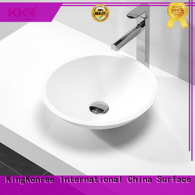 thermoforming above counter vessel sink design for home