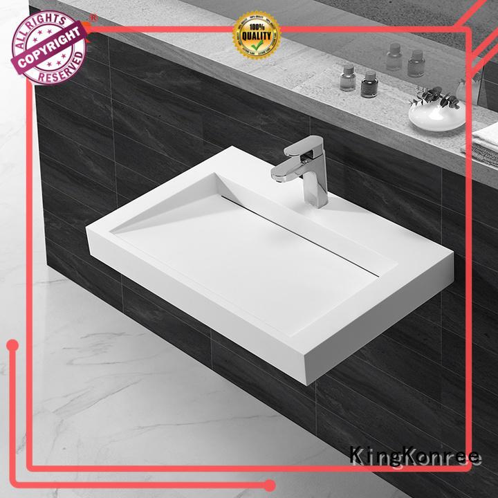KingKonree washing wall hung bathroom basins customized for toilet