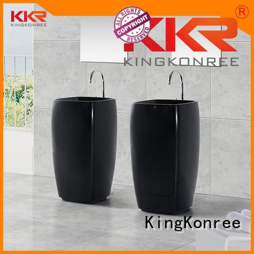 KingKonree Brand white faux design bathroom free standing basins