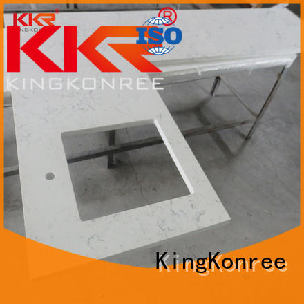 square hard surface countertops round for restaurant KingKonree