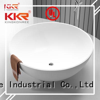 Hot solid surface bathtub artificla KingKonree Brand