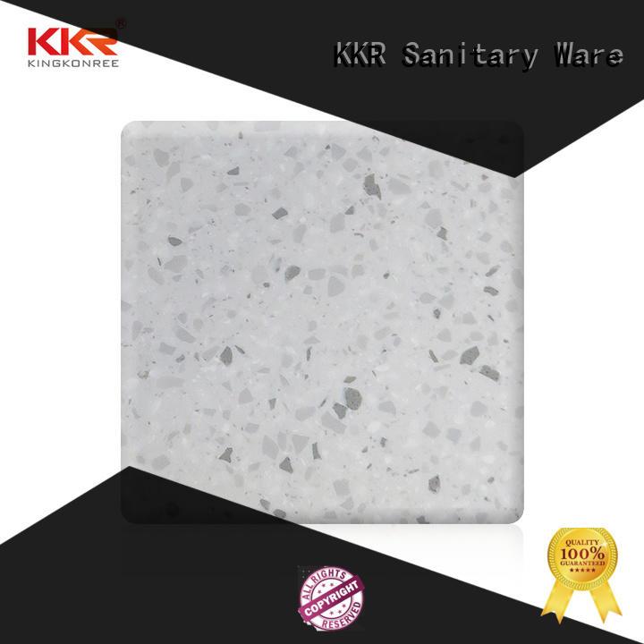 KingKonree yellow solid surface sheets design for restaurant