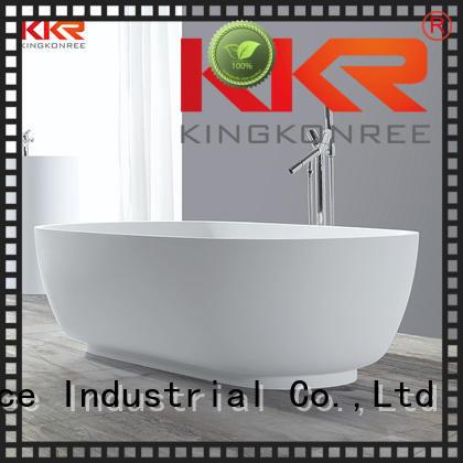 KingKonree Brand 150cm bathtubs solid surface bathtub manufacture