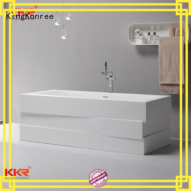 Quality KingKonree Brand artificial solid surface bathtub