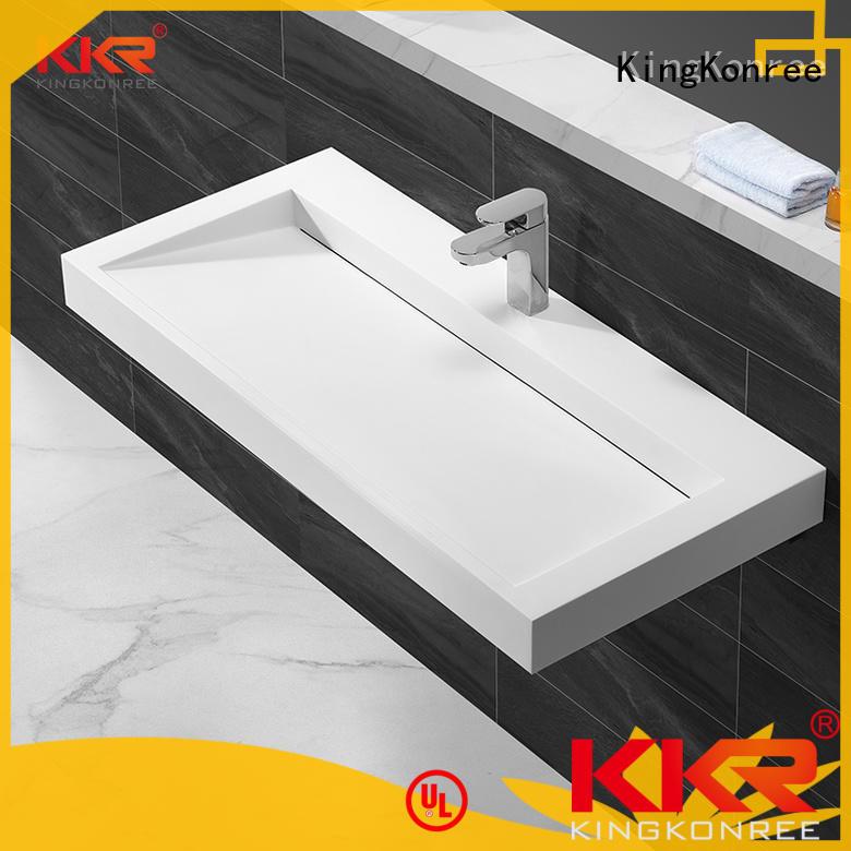 bathware wall hung wash basin supplier for bathroom KingKonree