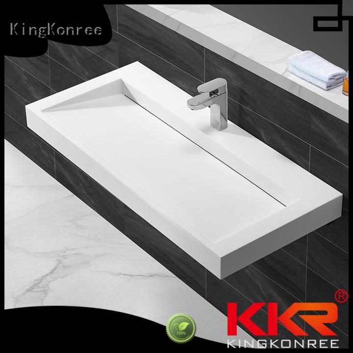 Hot wall mounted bathroom basin acrylic KingKonree Brand
