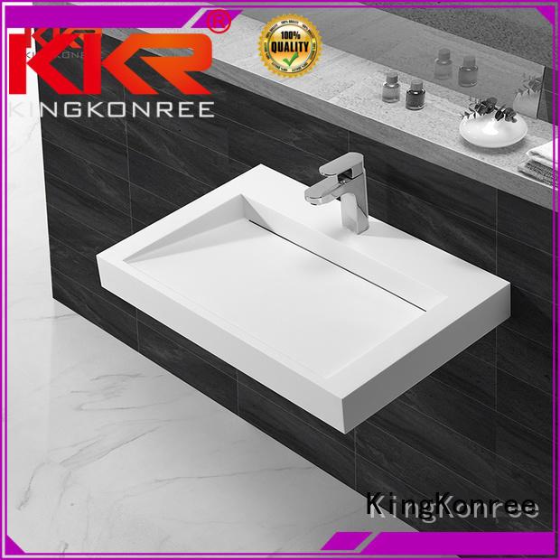 Hot wall mounted bathroom basin hung KingKonree Brand
