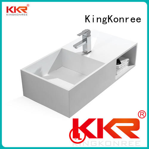 size small wall mounted bathroom basin resin KingKonree company
