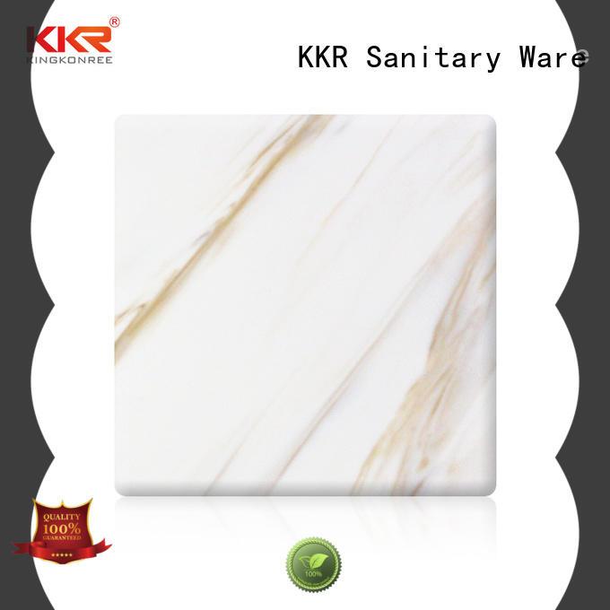 KingKonree acrylic solid surface sheet design for hotel