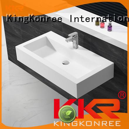 marble cheap wall hung basin bathware for home KingKonree