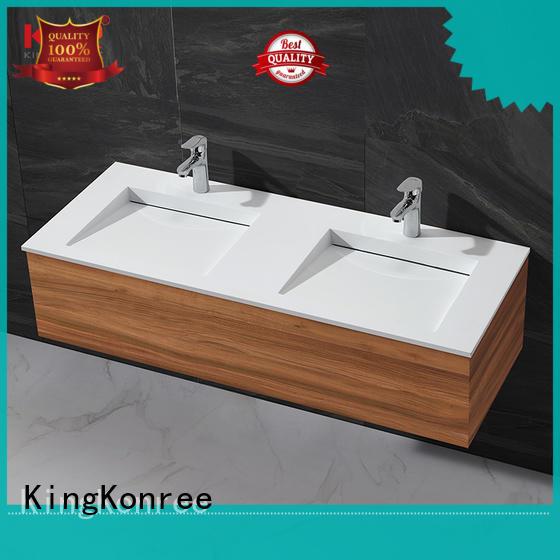 KingKonree wooden cabinet basin price for toilet