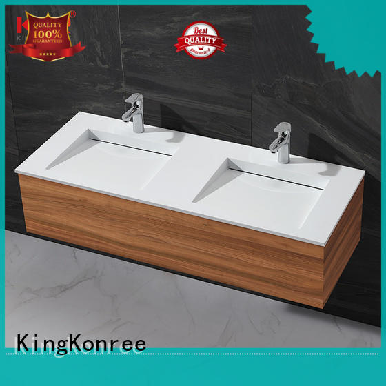 KingKonree wooden cabinet basin price for toilet